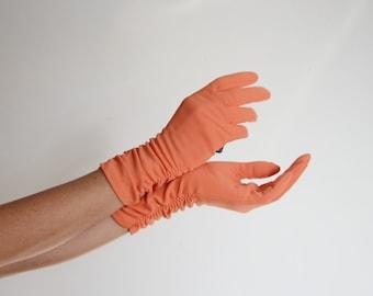 Vintage Orange Sorbet Nylon Gloves