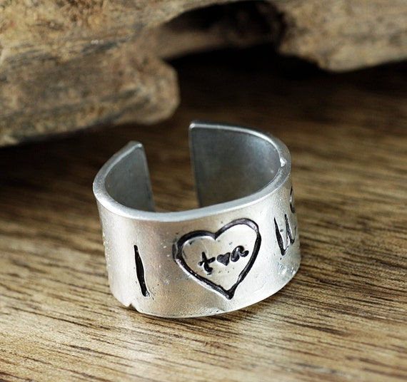 I Love Us Ring, Secret Message Ring, Anniversary Ring, Hand Stamped Ring, Gift for Wife, Custom Ring, Gift for Girlfriend, Mothers Day Gift