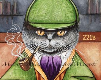 Sherlock Holmes, British Shorthair Sweatshirt