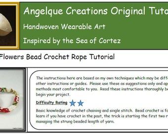 Poinsettia Flowes Bead Crochet Bracelet PDF pattern, reds, golds, white, christmas, beading, beadwork