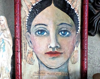 Saint Gabriel-Arch Angel-Original Portrait Painting