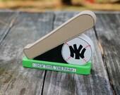 "New York Yankees 3.5"" - Wooden Baseball and Bat - Handmade Wood Figure - Gift for NY Yankees Fan"
