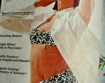1960s  VOGUE Pattern Fashions PATTERN Book Catalog - 76 Pages -  VOGUE  June-July  1965 Summer Capsule Catalog
