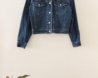 90's Dark Wash Denim Jacket