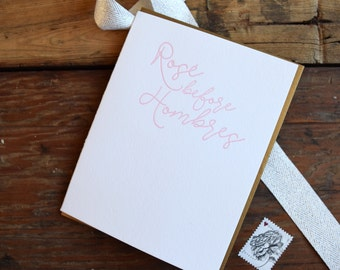 SASS-642 Rose before Hombres letterpress greeting card