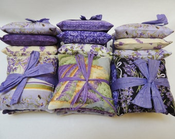 Lavender Sachet Bundles with Aromatic Organic Oregon Lavender