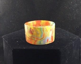 Handmade Polymer Clay Mokume Gane Tealight Holder