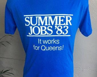 Summer Jobs '83 genuine 1980s vintage tee shirt - size large