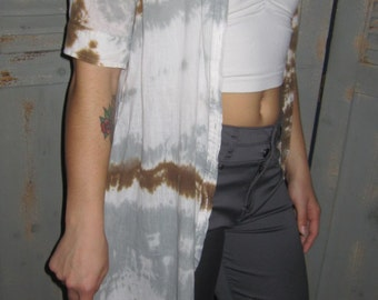Long Converse Shirt, Gauze, Light Weight, Tie Dye, Boho Chic, Earthy, Music Festival, Cover Up