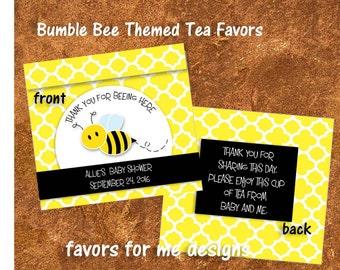 30 Bumble Bee Tea Bag Favors