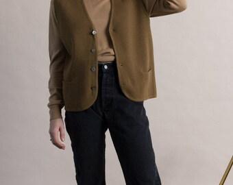 Vintage 60s Brown Wool Vest