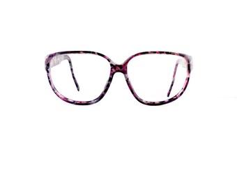 90s Alfred Sung Sunglasses Frames Vintage Women's 1990's Purple Tortoiseshell Frames Model #2702 #M815 DIVINE