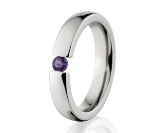 Tension Set- Alexandrite- Ring-Uniquely You-   4HR-P-Tension-Alex