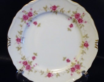 Vintage 1980s Ucagco China Japan Caroline Rose Scallop Edge Salad Plate Replacement Piece