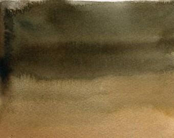 Landscape- Nature art-Original watercolor painting 5x7 inch