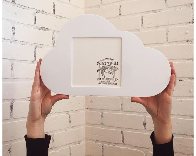 "Cloud Shape Square Opening Picture Frame in Finish COLOR of YOUR CHOICE - 5.5 x 5.5"" Viewing Area 6 x 6 inch Back Opening Picture Frame"