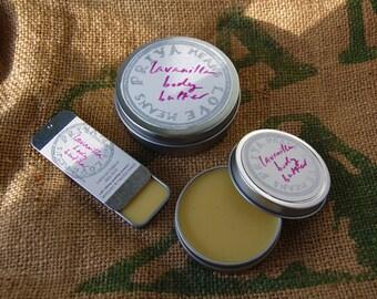 Organic Lavanilla Body Butter - organic lavender and Tahitian vanilla in a rich, moisturizing butter (4 oz, 2 oz, or 1/2 oz tins)