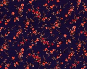Liberty Tana Lawn Fabric, Liberty of London, Liberty Japan, Elizabeth, Cotton Scrap, Floral Rose, Romantic Quilt, Patchwork Fabric, kt5049g