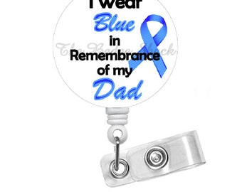 Colon Cancer Awareness 1.5 - Oncology Nurse Badge Reel - Medical Badge - RN - Awareness Badge Reel - Badges - Memory Badge Reel - Gift