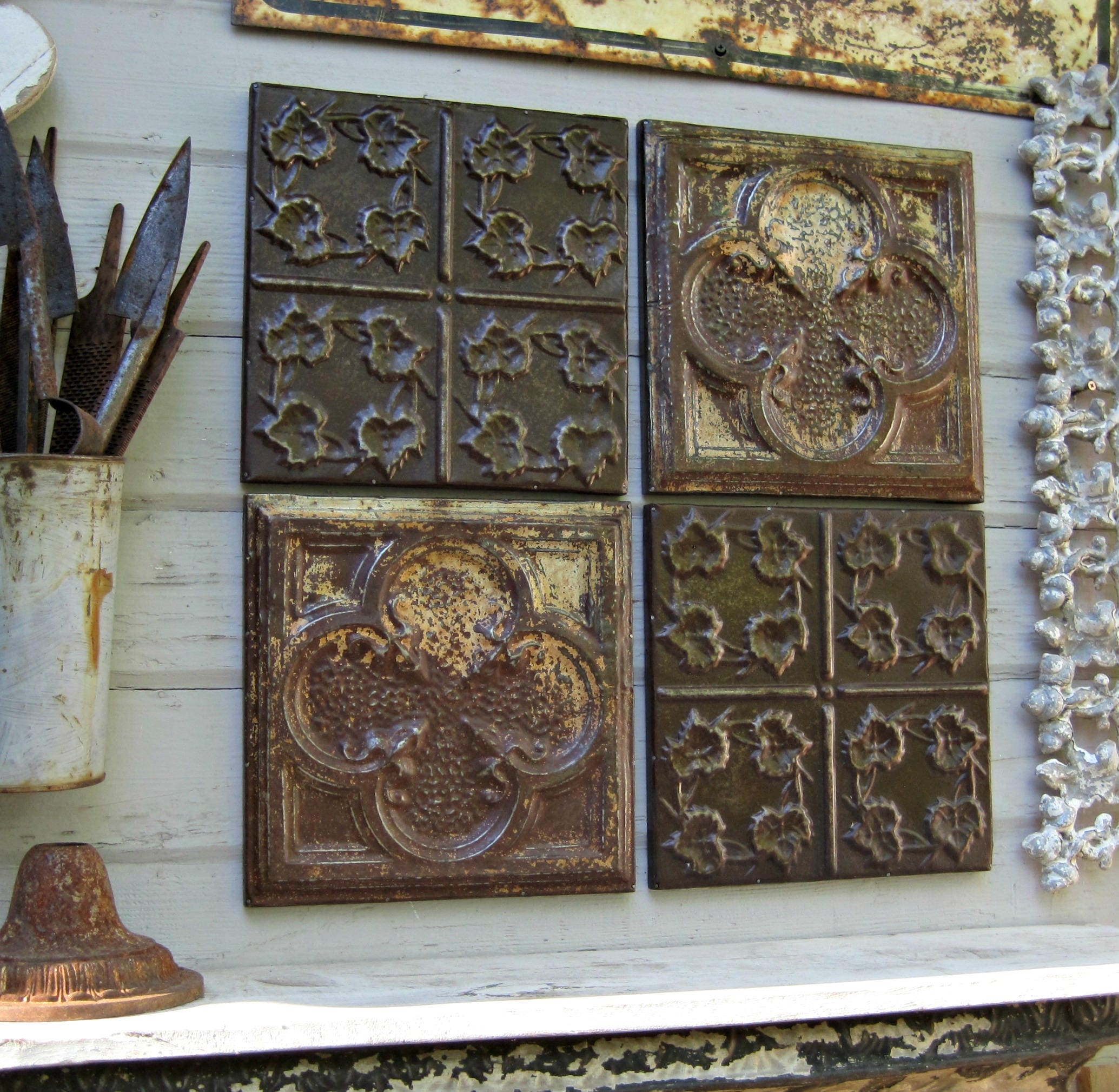 Old Vintage Wall Decor : Rustic wall decor antique architectural salvage