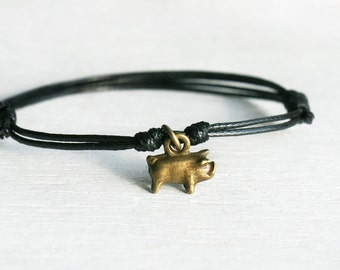 Pig Bracelet, Pig Anklet (many colors to choose)