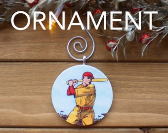 Baseball Ornament, Christmas Tree Decoration, Tree Ornament, Baseball Gift, Stocking Stuffer, Free Shipping