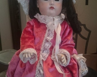 Vintage Vernon Seeley Miranda Bisque Porcelain Doll 17 Inch 1971
