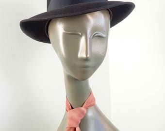 Vintage DOBBS Fedora Chocolate Brown Felt Fedora Hat- Fifth Ave New York Men's Debonair Topper sz 7 1/8