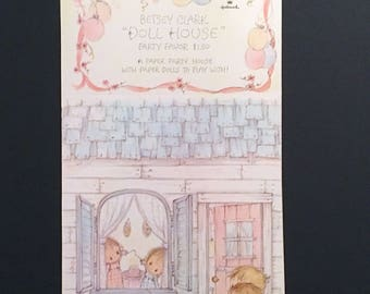 Vtg Betsey Clark Doll House and PAPER DOLL Party Favor - Hallmark - Uncut