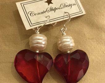 My Big Red Heart Earrings