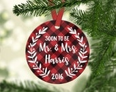 Engagement Ornament Engagement Gifts for Fiance Personalized Christmas Ornaments Personalized Ornament Christmas Gift for Fiance