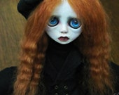 SALE - Handmade Collectible Unique -OOAK- Clay poseable Art doll- Leora