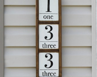 Wooden house numbers | Etsy