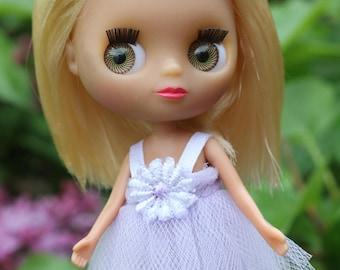 Lavender Dress for RealPuki, Amelia Thimble, Petite Blythe and More