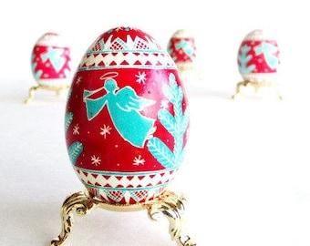 baby first Christmas gift Angeles Pysanka Ukrainian Easter egg hand painted gift