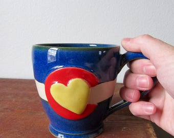 No. 1 Colorado in my Heart - Cozy Coffee Mug - Show your CO state pride, ready to ship