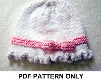 Knitting Pattern - Cloche Hat Pattern - the FAYE cloche (Newborn, Baby, Toddler, Child & Adult sizes incl'd)