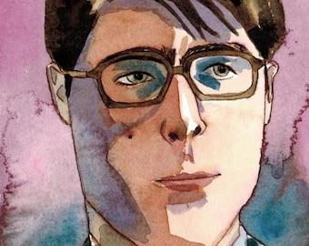 Max Fischer - Watercolor - Wes Anderson