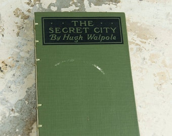 1919 SECRET CITY Vintage Lined Journal Notebook