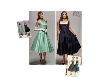 Misses Dress Pattern, Bridesmaid Dress Pattern, Prom Dress Pattern, Evening Dress Pattern, Vintage Styled Dress Pattern Simplicity 1155