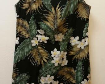 Vintage Hawaiian Dress by Pacific Legend Apparel, Shift Dress, Size XL on Label, #64825