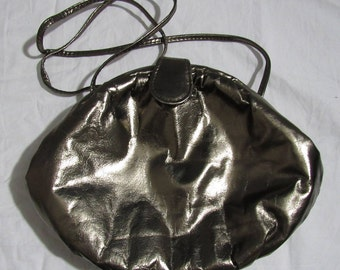 Vintage Metallic Shoulder/Over the Shoulder Purse