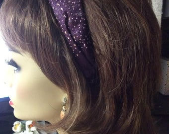 Headband. Plum, Sparkle, Adult Headbands. Girls Headbands,Birthday gifts, Party Favors