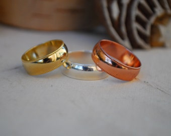 DELUXE ROYAL RING  /// Gold, Silver or Rose Gold Stacking Ring