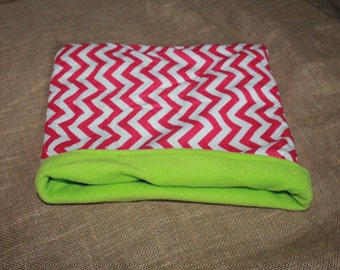 LARGE Pink Chevron Pouch for Small Pocket Pets- Guinea Pigs, Rabbits, Hedgehogs, Chinchillas...