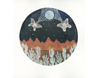 Fine Art Print-Lunar Symbiosis