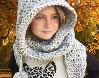 Hooded Scarf Crochet Pattern, Scarf Crochet Pattern, Hooded Neck Warmer Crochet Pattern, Crochet Patterns, Girls Crochet Patterns, Women