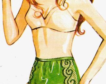 Kwik Sew 201 Misses Lingerie Panties Pattern Briefs Womens Vintage Sewing Pattern Size 4 5 6 Waist 24 - 27