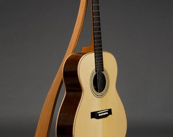 THE ORIGINAL - Take a Stand Guitar Stand in Swiss Pear w/ Curly Maple Inlay