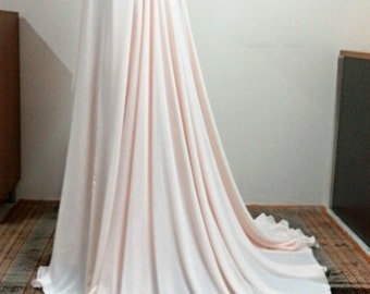 Bridal skirt, chiffon muslin skirt, high-low,3 layers skirt,chiffon over satin, Blush-White-Ivory, High-low, High fashion Made to order